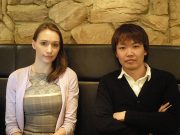 Conyac's Una Softic (left) and CEO Naoki Yamada (right)