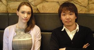 Conyac's Una Softic (left) and CEO Naoki Yamada (right)