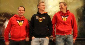 Right to left: Peter Vesterbacka, Antti Sonninen, Henri Holm