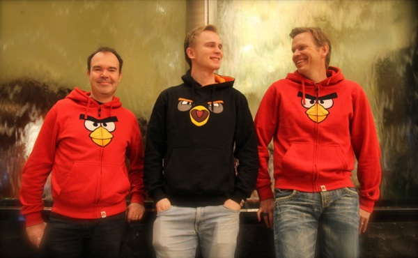 Right to left: Peter Vesterbacka, Antti Sonninen, Henri Holm