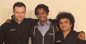 R to L: VP Business Development Sebasian Blum, Sr Software Engineer Venkat Krishnaraj, CEO Soujanya Bhumkar