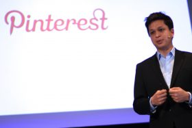 Pinterest CEO, Ben Silbermann, on stage in Tokyo last May