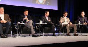 L to R: George Kellerman, 500 Startups; David Chao, DCM; Derek Collison, Apcera; Josh James, Domo; Phil Libin, Evernote