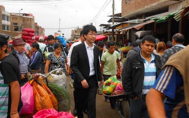 Crowdcredit首席执行官Tomoyuki Sugiyama访问秘鲁,研究当地市场情况。 (图片由Crowdcredit提供)