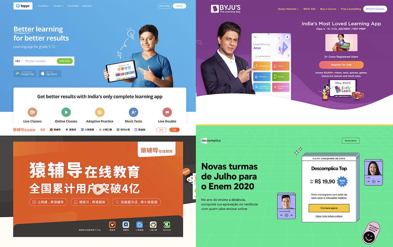 global edutech starups