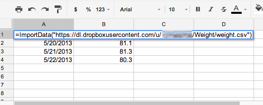 Importing your CSV file to Google Spreadsheets