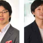 From the left: the current CEO Kenji Kasahara and upcoming CEO Yusuke Asakura