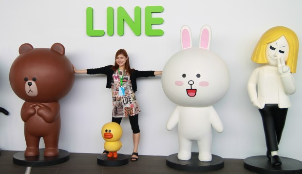 Line character figures near the entrance