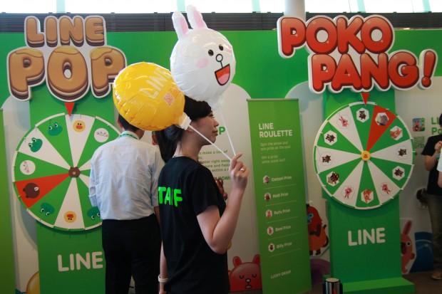Line Pop and Line Pokopang roulette. Win some balloons and other merch.