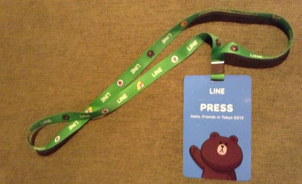 Line's fancy press passes. Very cool.