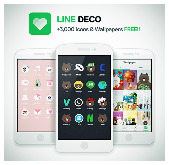 Line Moving In On Cocoppa S Territory With New Homescreen