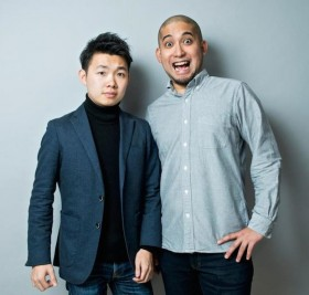 Co-founders of Tabilabo, Yuki Naruse (left) and Shotaro Kushi (right)