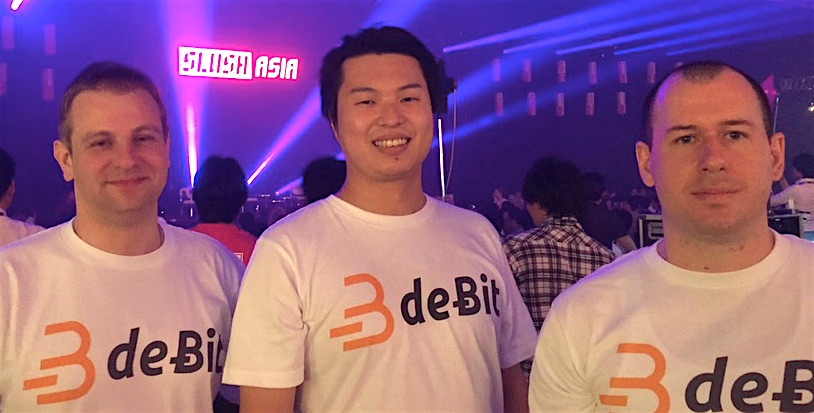 The deBit team at Slush Asia 2016 (Image credit: deBit)