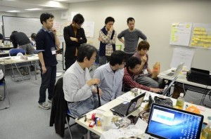 mono appli hackathonの様子。