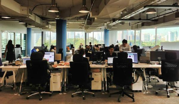 バンコク市内のインキュベーション施設 ArdentLabs の風景