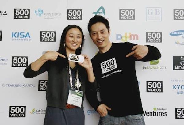 500startups の Christine Tsai(左)と 500videos の Ho Yang(右)