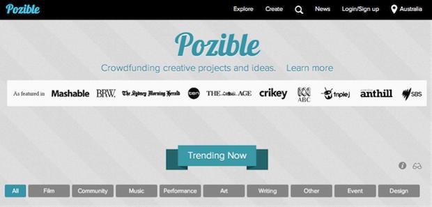 crowdsourcing Pozible