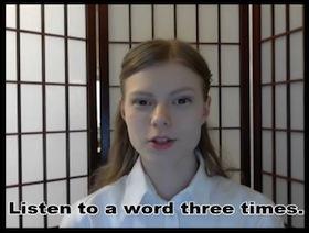 発音練習動画の様子