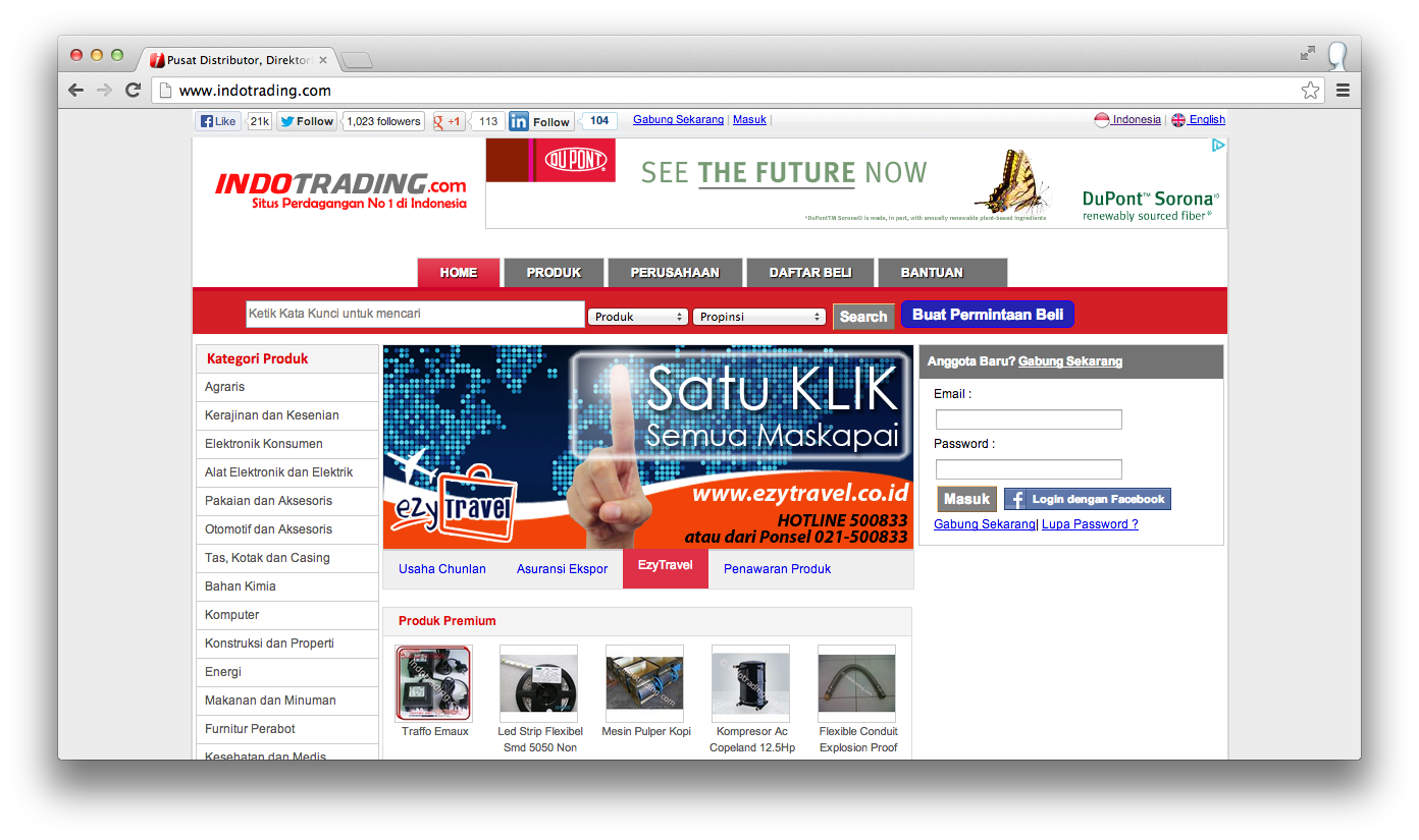 Indotrading-website