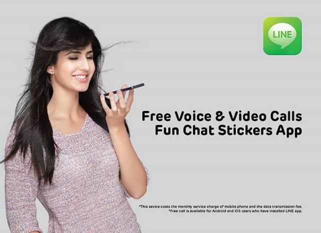 Katrina-Kaif-advertises-Line-app