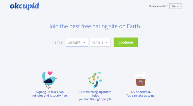 OkCupid-website