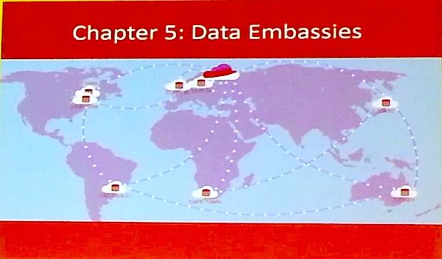 Dtata Embassies。 (この地図は現時点でイメージだが、忠実に従うなら、東京にも配置されることになるかも。)