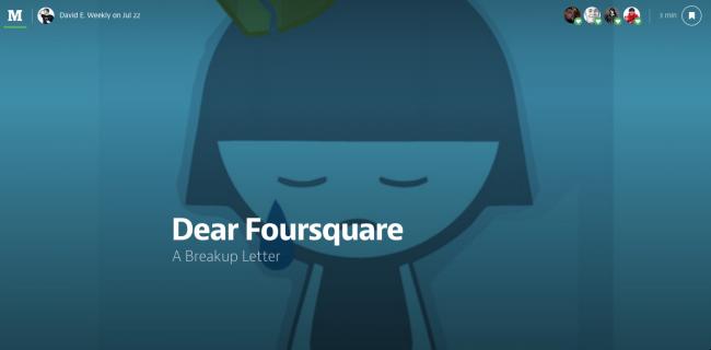 Dear-Foursquare