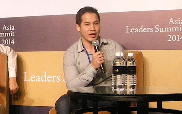2014 Asia Leaders Summit で熱弁を奮う、Ardent Capital 会長 Paul Srivorakul 氏