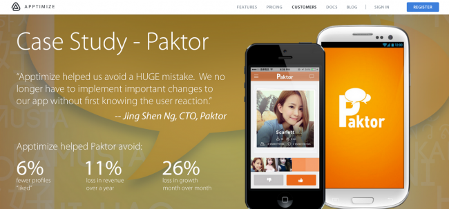 Apptimize-Paktor