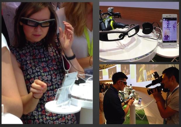 Sony Eyeglass に搭載された Spectee(ベルリン、IFA 2014 にて)