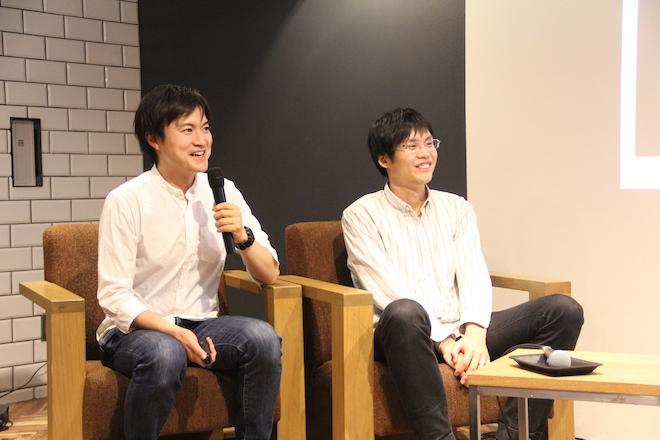 モデレーターの、サムライインキュベートの玉木氏(左)と、さくらインターネットの田中氏(右)