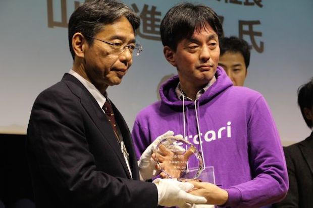 メルカリ代表取締役社長の山田進太郎氏