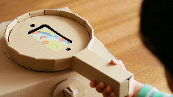 ダンボールとスマートフォンを組み合わせて遊べる「ダンボッコ キッチン」