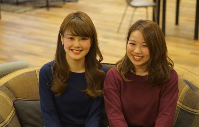 Coupleの共同ファウンダー 竹村恵美さん(左)と渡部愛子さん(右)