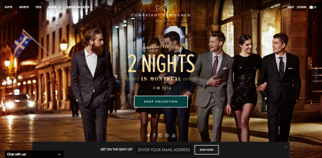 Combatant Gentlemenのウェブサイト