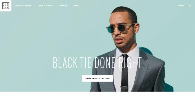 The Black Tuxのウェブサイト