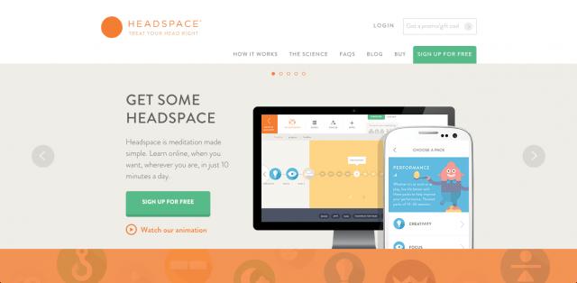 身体をジムで動かすように、頭のエクササイズを提案する「Headspace」