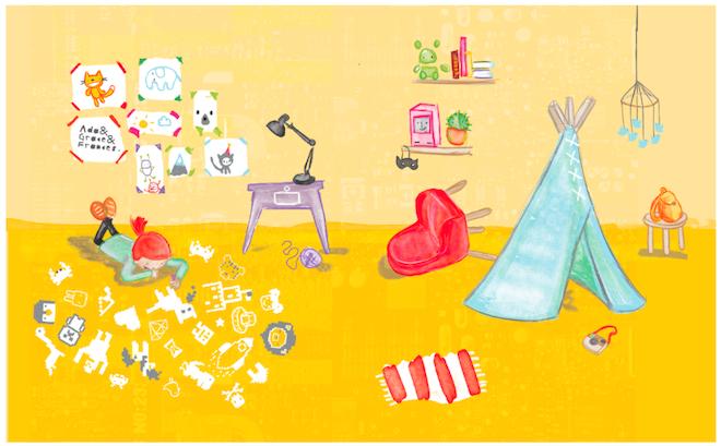 Kickstarterで38万ドルの資金を調達したプロジェクト、絵本「Hello Ruby」のイメージ