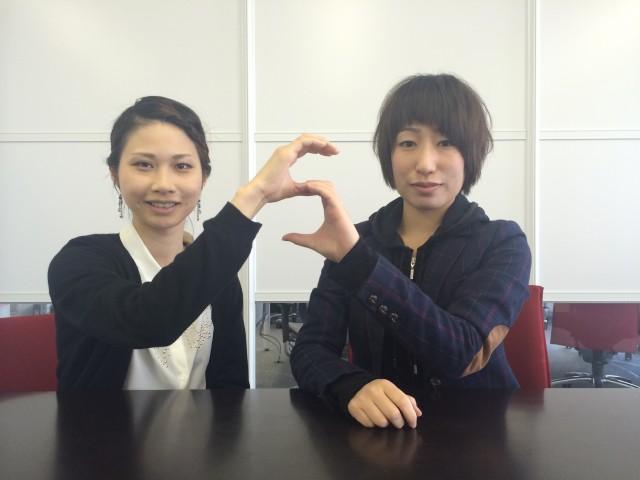 代表の安部遥子さん(右)とサポート担当の和田沙耶香さん(左)