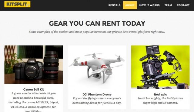 ハイテクガジェットを貸し借りできるオンラインプラットフォーム「KitSplit」