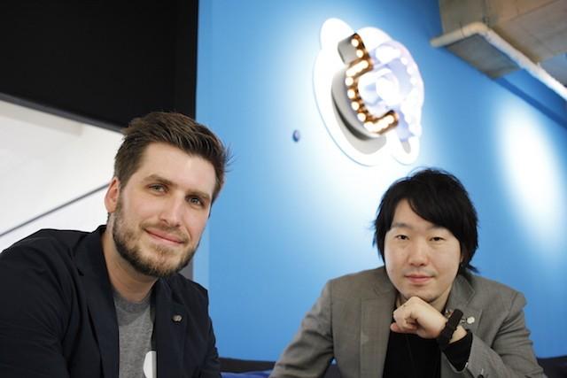 右から:グッドパッチ代表取締役社長 土屋 尚史氏、執行役員 ボリス・ミルコヴスキー氏