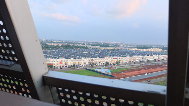 View onto the housing complexes of Tangerang from within Skystar Ventures building