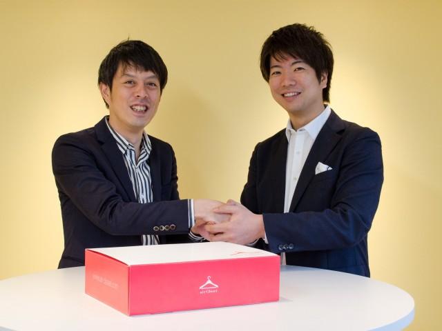 寺田倉庫月森執行役員(左)とノイエジーク天沼代表(右)