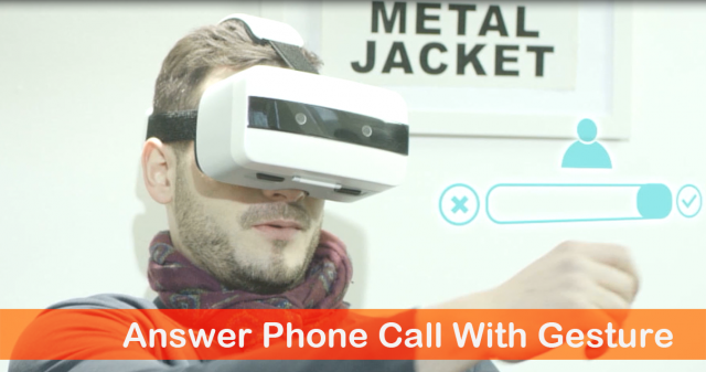 Answer phone call with gesture