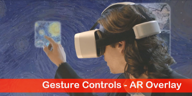 Gesture controls - ar overlay