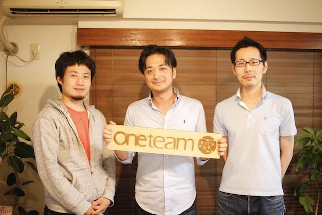 左:近藤恭平氏、中央:Oneteam CEO 佐々木陽氏、右:久保貴市氏