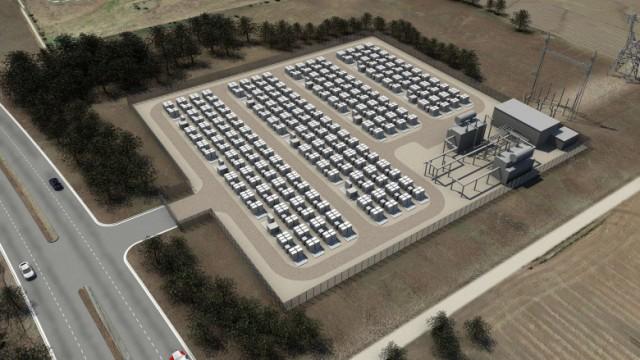Above: Tesla's utility storage. Image Credit: Tesla