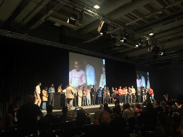 iBRIDGESのピッチコンテストに参加したスタートアップが集合