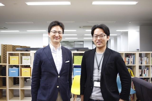 左:スローガン ベンチャーキャピタリスト 前川英麿氏 右:スローガン代表取締役社長 伊藤 豊氏