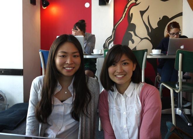 ベルリンでインタビューに応じてくれた松井姉妹。